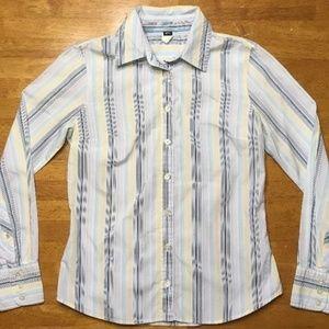 J. Crew Women's MultiColor Dress Shirt Small Slim
